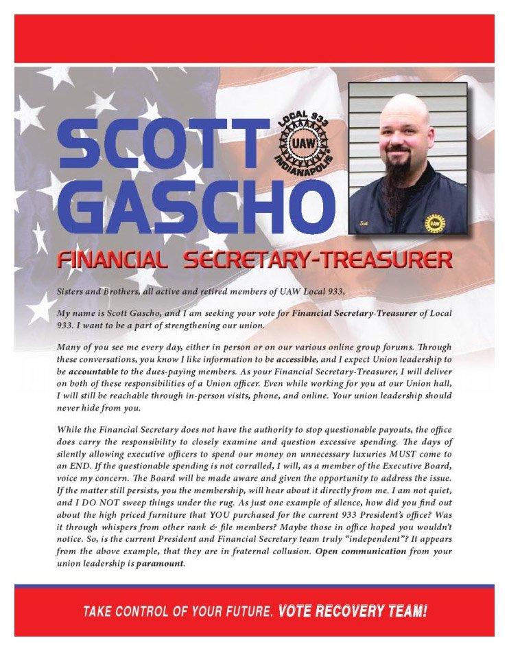 Handbill Scott Gascho Obv No. 1