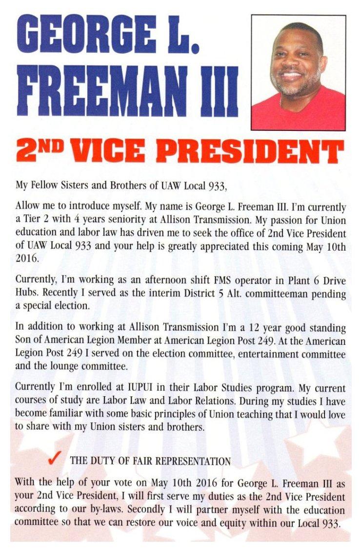 George Freeman Card Obv