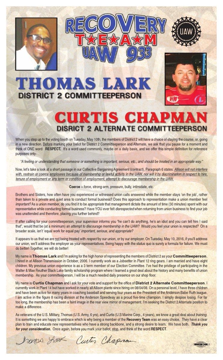 Lark Chapman Handbill