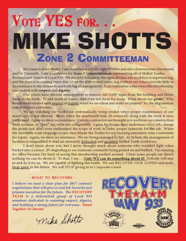Handbill Mike Shotts