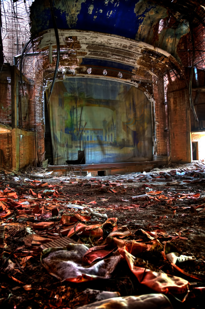 The Palace Theater in Gary, Indiana