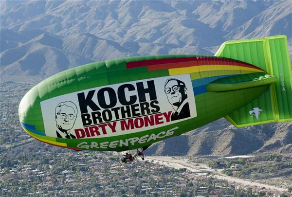 blimp Greenpeace