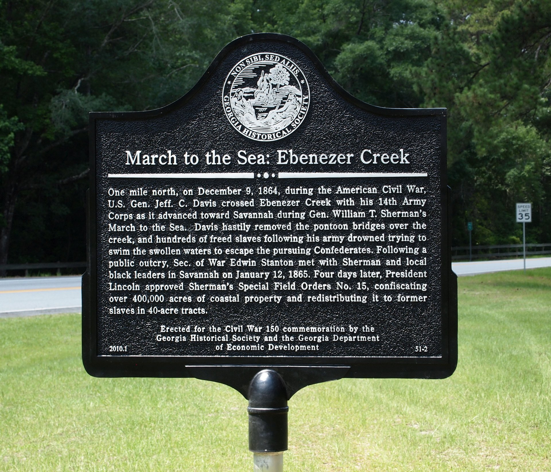Ebenezer Creek Highway Marker